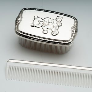 Empire Silver, Sterling Teddy Brush & Comb Set